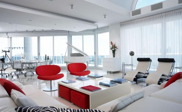 Project description contemporary minimalist penthouse - Triplex house plans cost cutting living ...